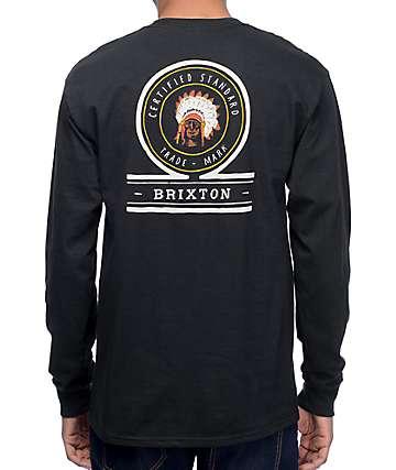 Brixton Crow camiseta negra de manga larga