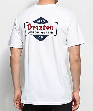 Brixton Crowich White T-Shirt