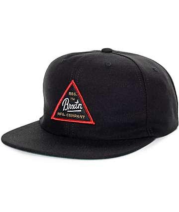 Brixton Cue Black Snapback Hat