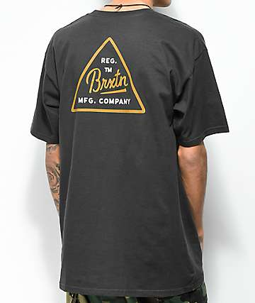 Brixton Cue Washed Black T-Shirt