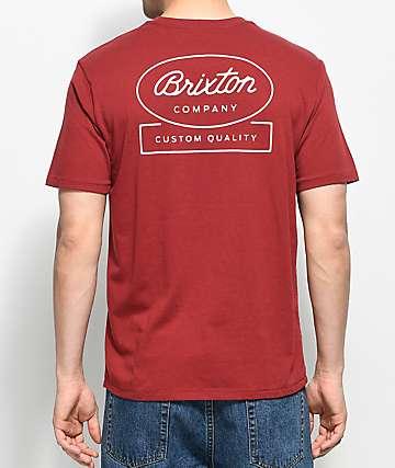 Brixton Dale Burgundy Premium T-Shirt