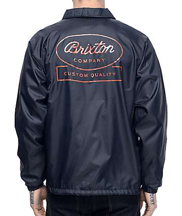 Brixton Dale Navy Coaches Jacket