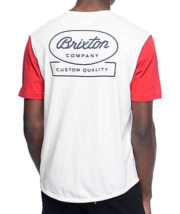 Brixton Dale camiseta en rojo y blanco