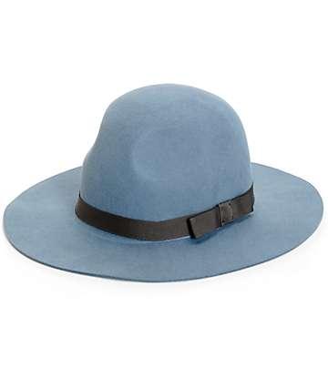 Brixton Dalilia Blue Wide Brim Hat