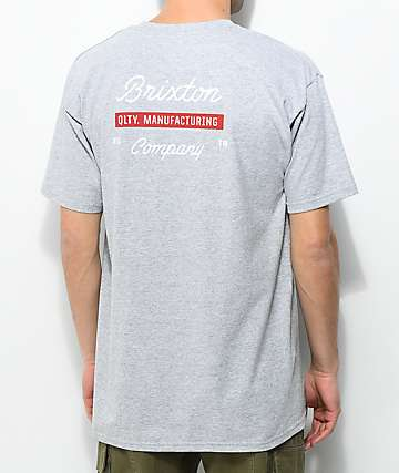 Brixton Dwell Heather Grey T-Shirt