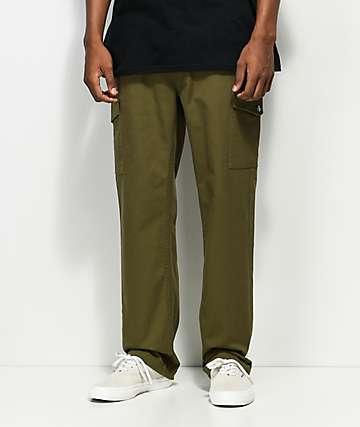 Brixton Fleet Olive Cargo Pants