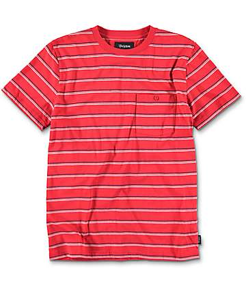 Brixton Fraction Red Stripe Knit T-Shirt