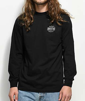 Brixton Garth Black Long Sleeve T-Shirt