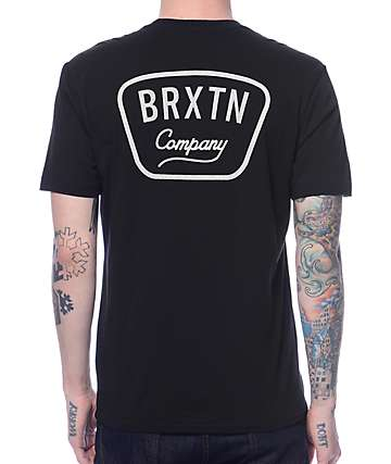 Brixton Gaston Black T-Shirt