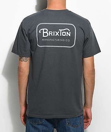 Brixton Grade Charcoal Grey T-Shirt