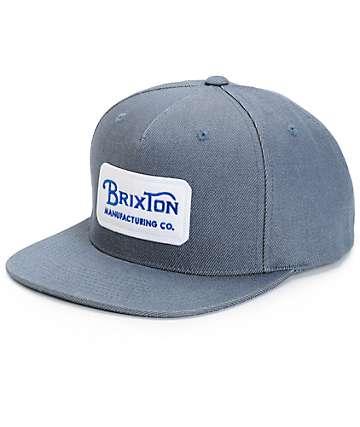 Brixton Grade Denim Snapback Hat