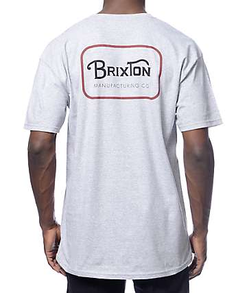 Brixton Grade Heather Grey T-Shirt