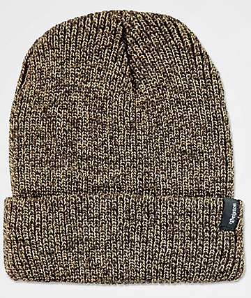 Brixton Heist Brown & Tan Beanie