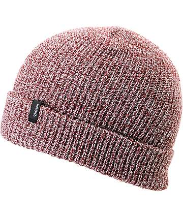 Brixton Heist Burgundy Heather Beanie