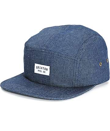 Brixton Hendrick Denim 5 Panel Hat