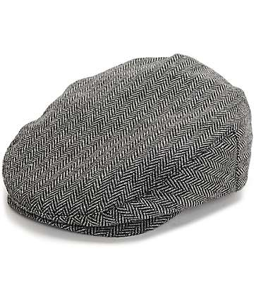 Brixton Hooligan Grey Herringbone Snap Newboy Cap