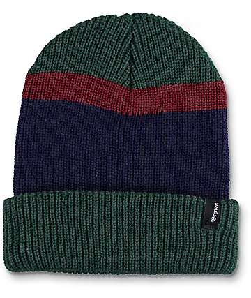 Brixton Hughes Hunter Green, Burgundy, & Blue Beanie