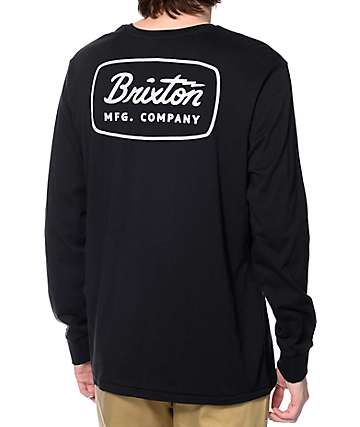 Brixton Jolt Black Long Sleeve T-Shirt
