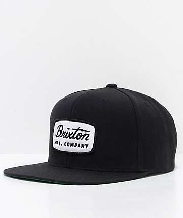 Brixton Jolt Black Snapback Hat