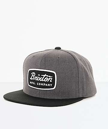 Brixton Jolt Charcoal & Black Snapback Hat