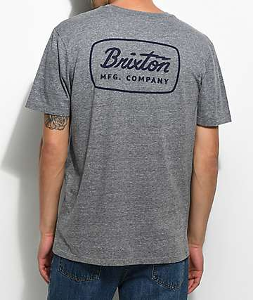 Brixton Jolt Heather Grey Premium T-Shirt