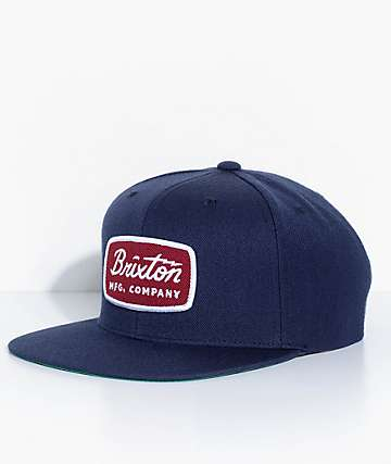 Brixton Jolt Navy & Red Snapback Hat