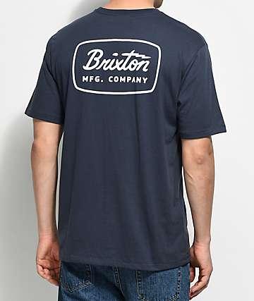 Brixton Jolt Navy Premium T-Shirt