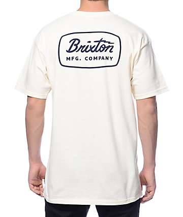 Brixton Jolt Off White T-Shirt
