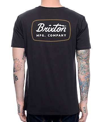 Brixton Jolt Washed Black T-Shirt