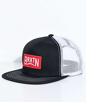 Brixton Langley Black & White Trucker Hat