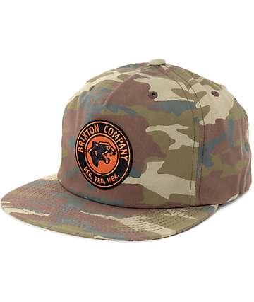 Brixton Legion HP Camo Snapback Hat