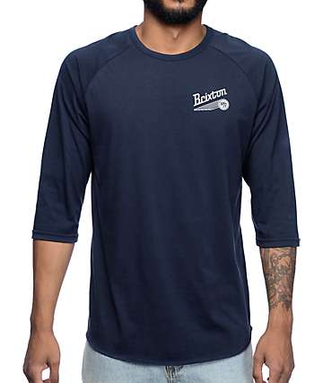 Brixton Maverick Navy T-Shirt