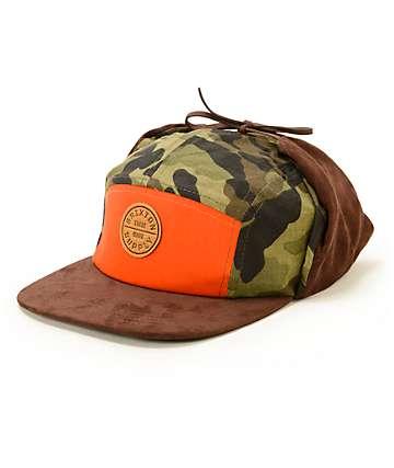 Brixton Miller Camo Flap 5 Panel Hat