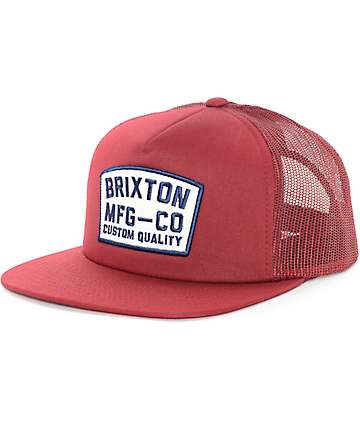 Brixton National Burgundy Trucker Hat