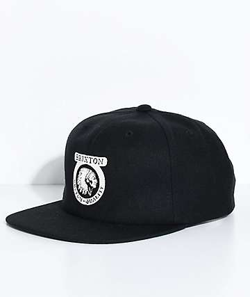 Brixton Native Black Snapback Hat