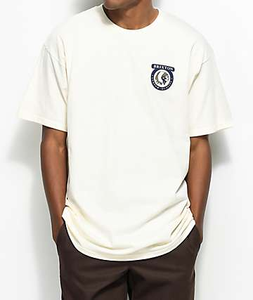 Brixton Native II Off-camiseta blanca