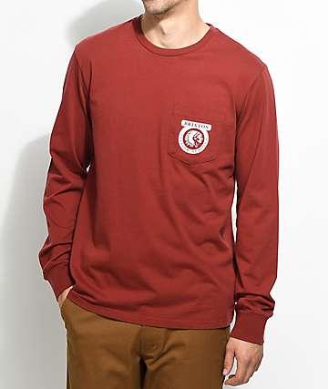Brixton Native camiseta de manga larga en color vino