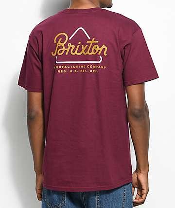 Brixton Newbury Burgundy T-Shirt
