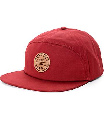 Brixton Oath Burgundy 7 Panel Hat