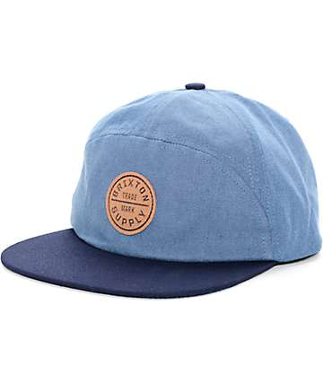 Brixton Oath Light Blue & Navy Strapback Hat