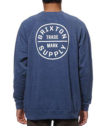 Brixton Oath Wash Crew Neck Sweatshirt