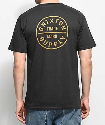 Brixton Oath Washed Black T-Shirt