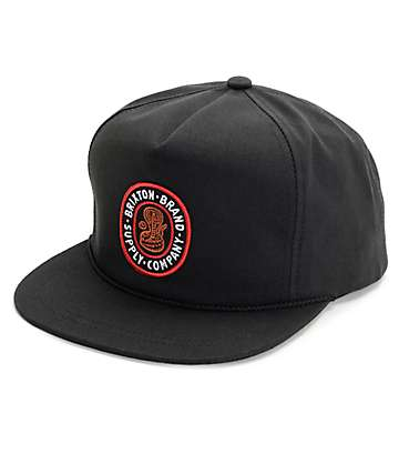 Brixton Pace HP Black Snapback Hat