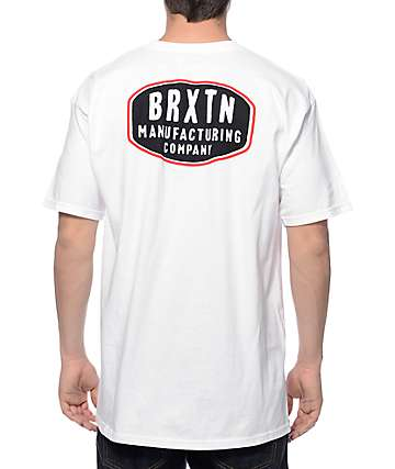 Brixton Pacer White T-Shirt