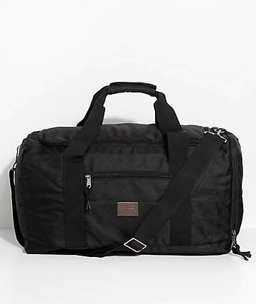 Brixton Packer Black Duffle Bag Backpack
