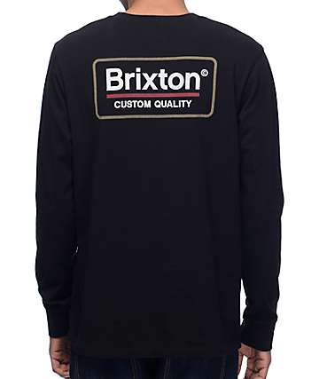 Brixton Palmer Black Long Sleeve T-Shirt