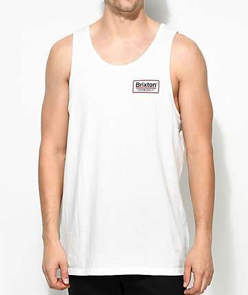 Brixton Palmer II Off White Tank Top