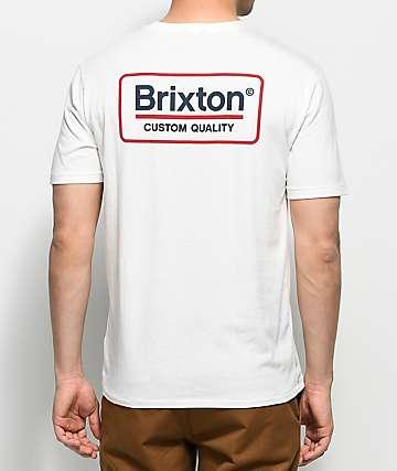 Brixton Palmer Off White Premium T-Shirt