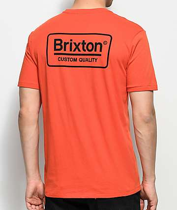 Brixton Palmer Orange Premium T-Shirt