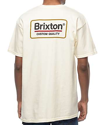 Brixton Palmer camiseta en color crema